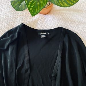VINTAGE DKNY button up top black size small